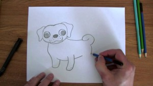 how to draw easy pug cute puppy 300x169